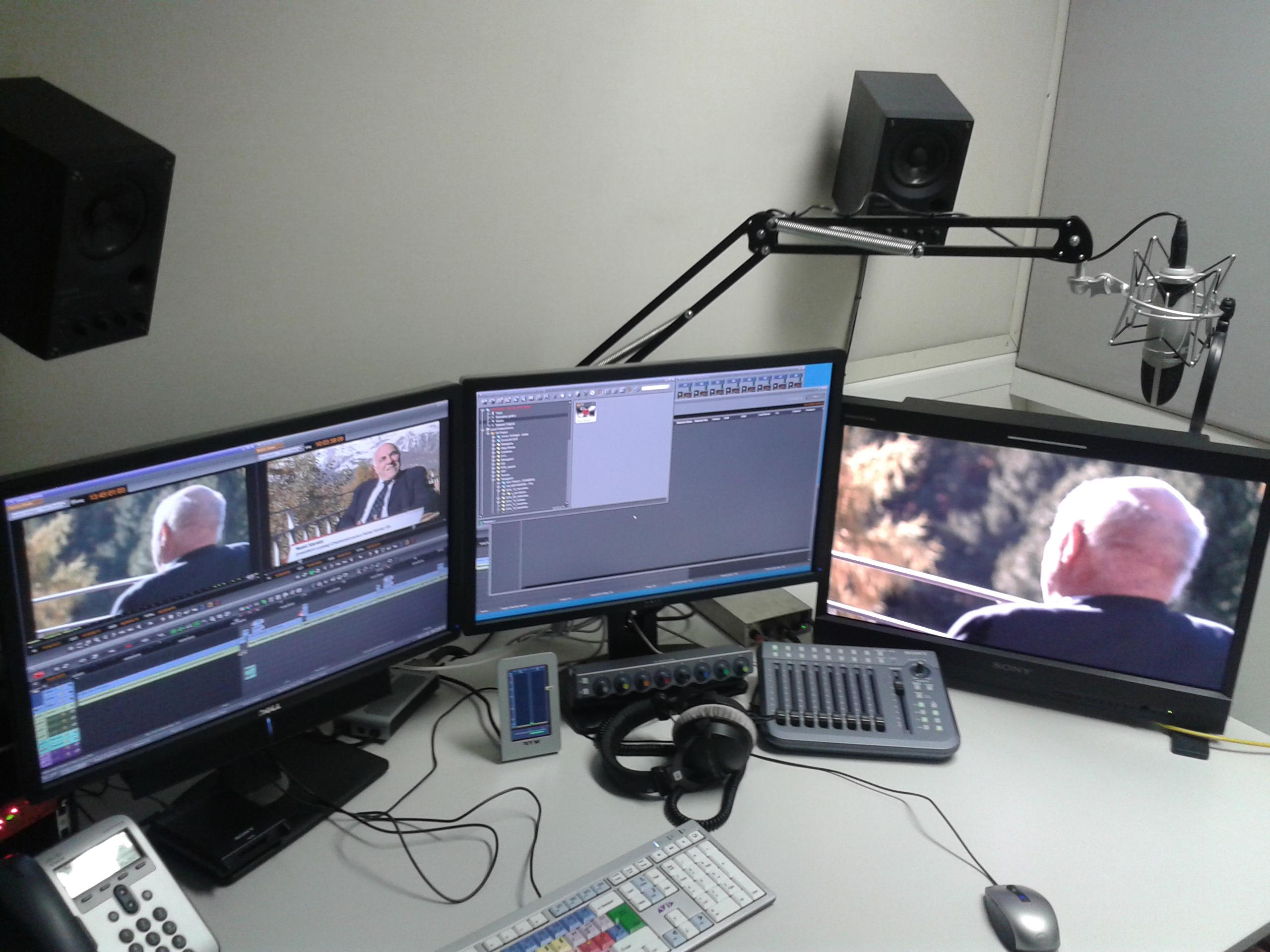 Az ominózus arc a vágórendszerben, az RTR tévéstúdiójában.