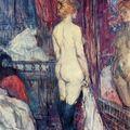 Henri de Toulouse-Lautrec (1864 – 1901): Meztelenül álló nő a tükör előtt