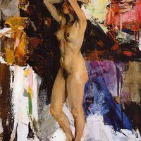 Nicolai Ivanovich Fechin: (1881-1955): Álló női modell