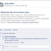Cenzorsíp avagy kreatív tartalomszűrés az SZTE EHÖK facebook oldalán