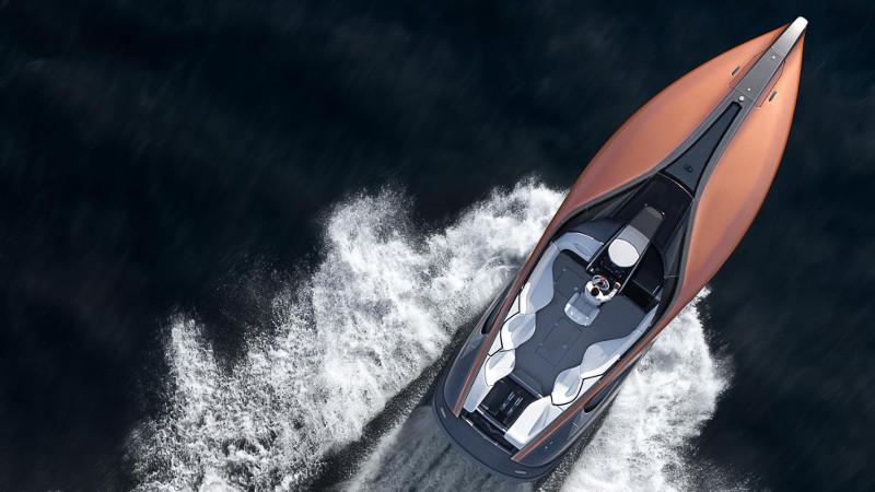 lexus motorcsónak felülről - exkluzív - gazdag - prémium - luxus - presztízs