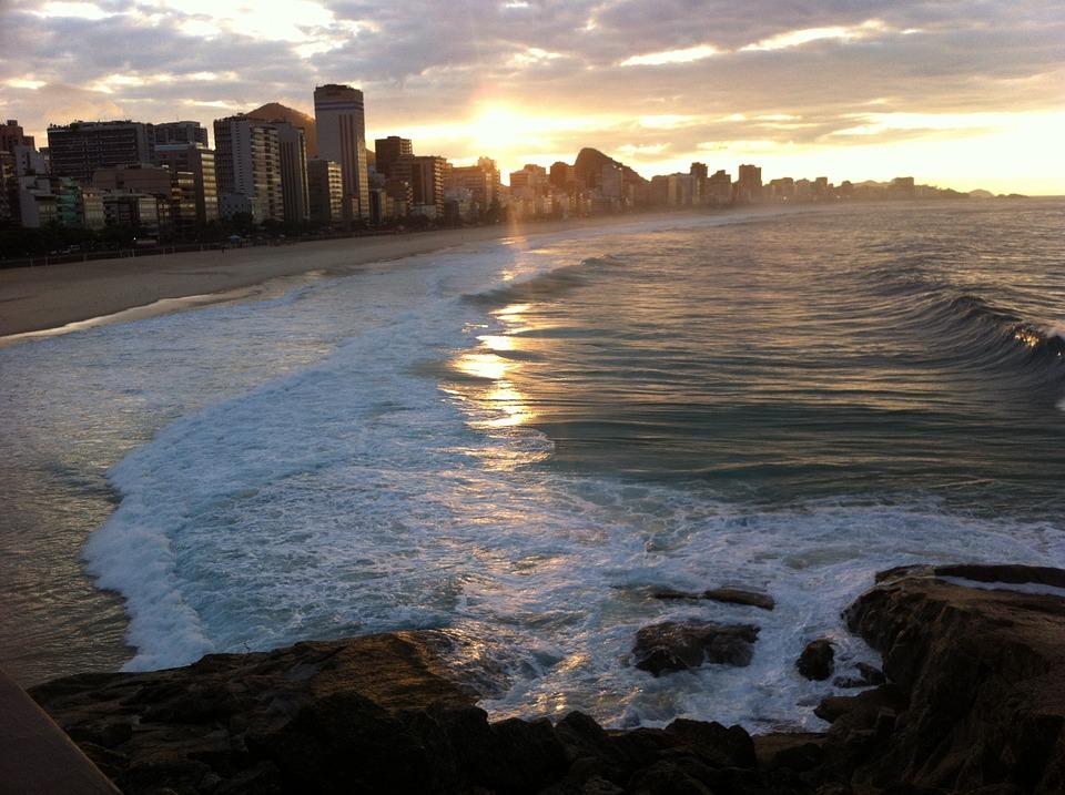 copacabana beach naplemente