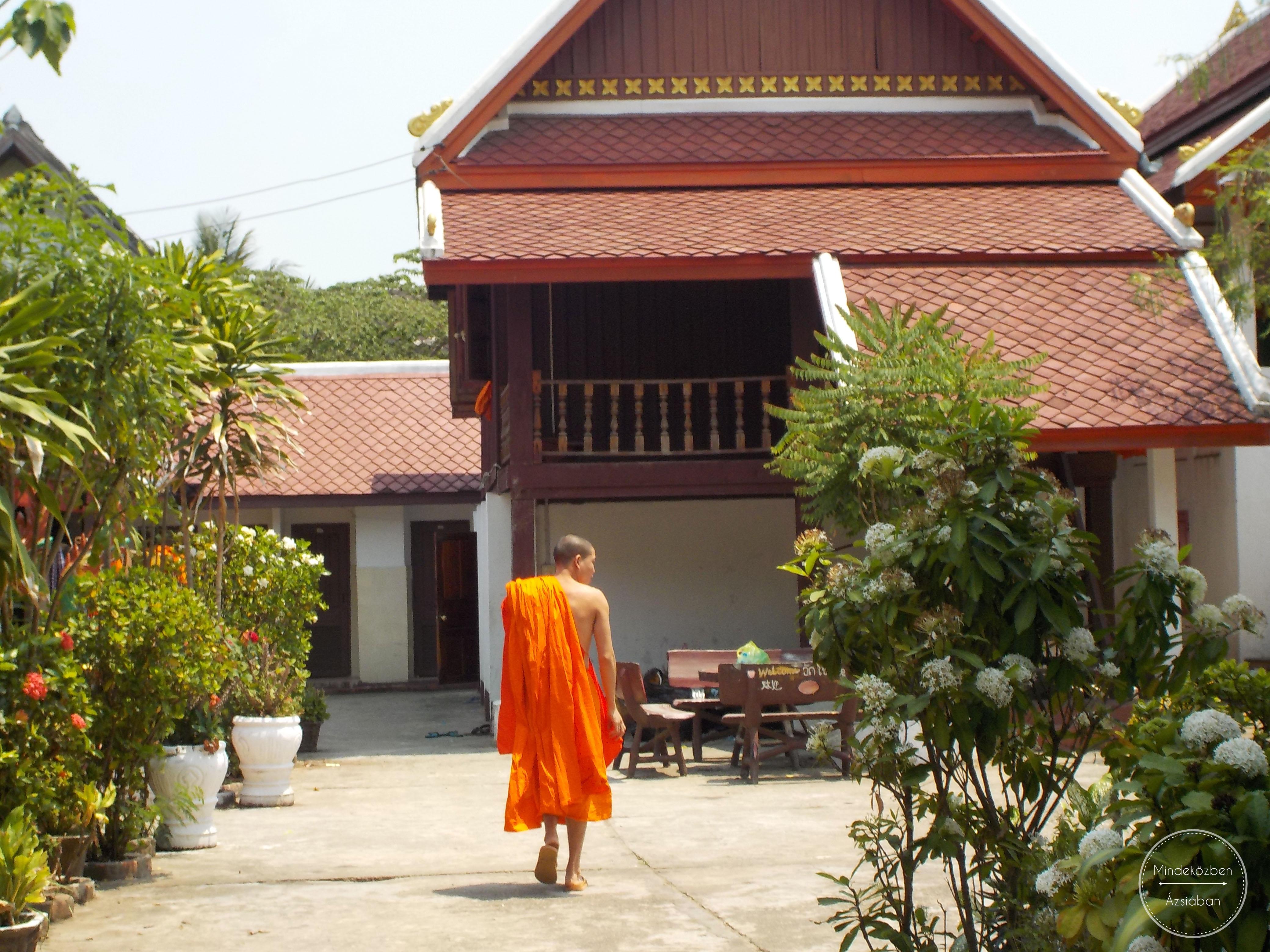 A szerzetesek városa: Luang Prabang.
