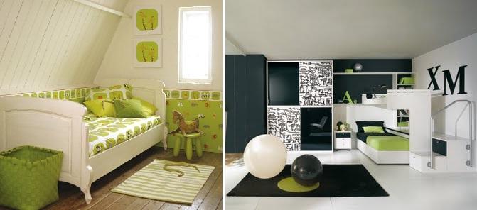 Fiatalos h l szob k z ldben minden design for Dormitorios verde agua