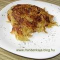 Hagymás reszelt krumpli