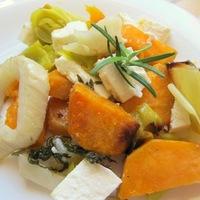Édesburgonya egytál feta sajttal