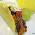 Taco csirkével és babbal