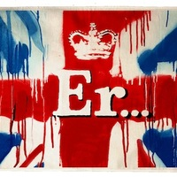 Ingyen letölthető Banksy plakát a királynő tiszteletére