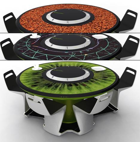 design étkezőasztal a jövőből a mindennapi betevőhöz