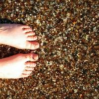 A lenyűgöző üveg tengerpart