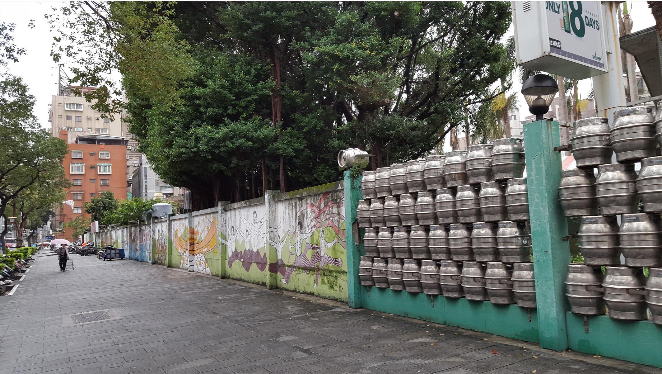 Újrahasznosított kerítés