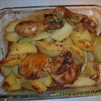 Tepsis csirkecomb burgonyával