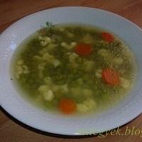 Fehér zöldborsó leves