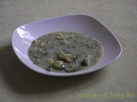 Brokkoli főzelék (tejmentes, tejfehérje mentes, laktózmentes, szójamentes, gluténmentes, tojásmentes)