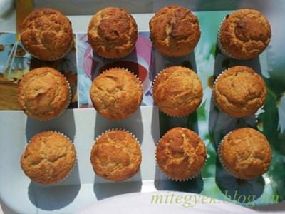 Tejmentes muffin (szójamentes, laktózmentes)