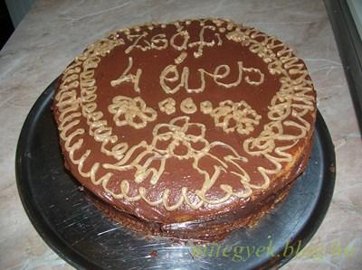 Gesztenyés csokitorta (tejmentes, tejfehérje mentes, laktózmentes, szójamentes)