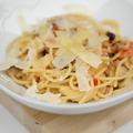 Padlizsános, paradicsomos spagetti