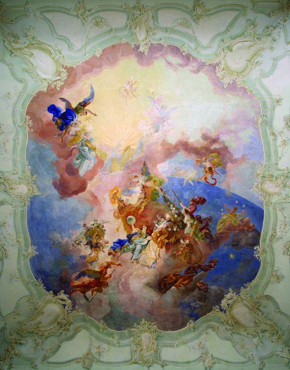 07 - Maulbertsch freskója (forrás: www.schlosshalbturn.com)