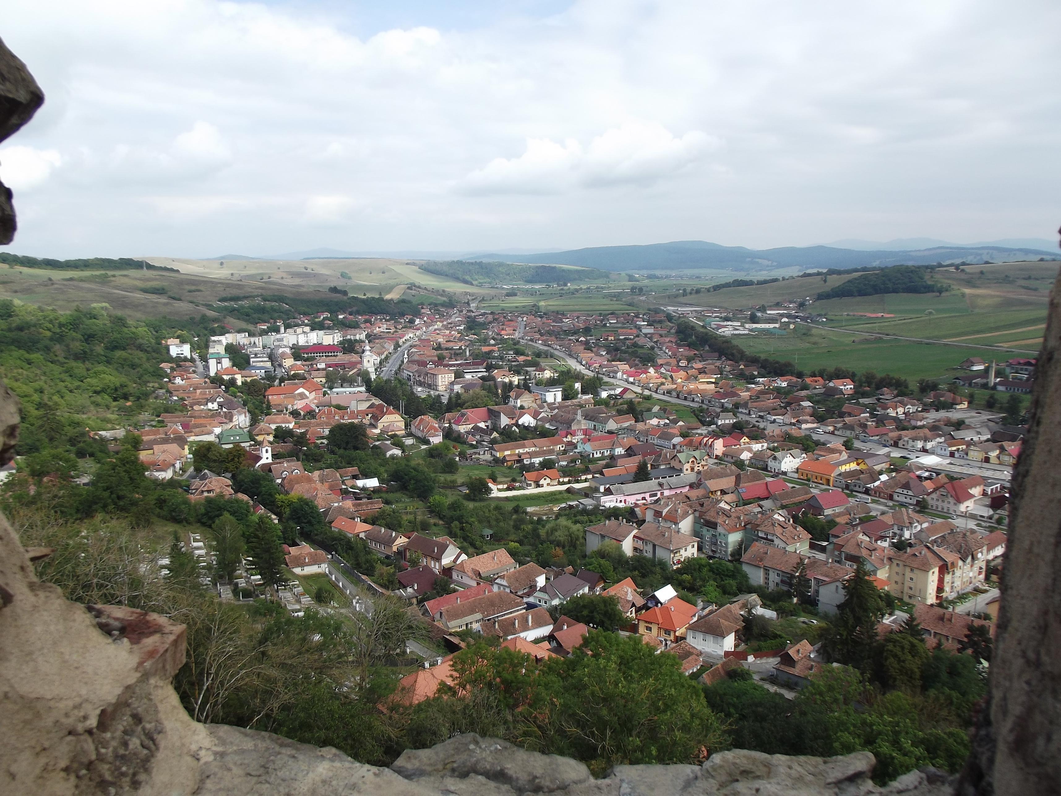 Kőhalom látképe a várból