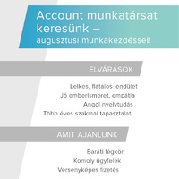 Account munkatársat keresünk!