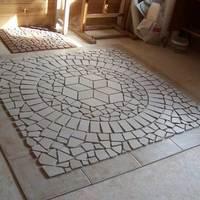 Mozaik padló finom árnyalatokkal