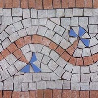 Mozaik bordűr greslapból