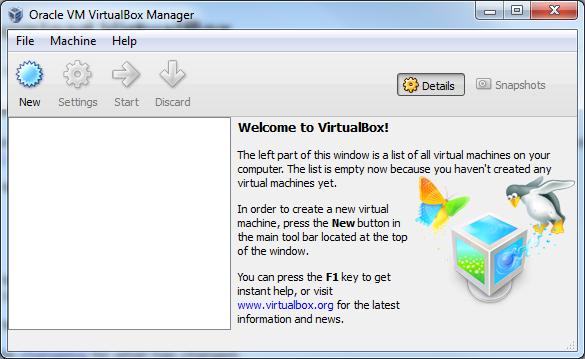 Fresh VirtualBox install