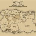 A Naprendszer teljes szilárd felszíne