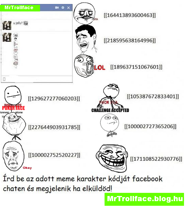 Big Troll Face Meme Facebook Chat