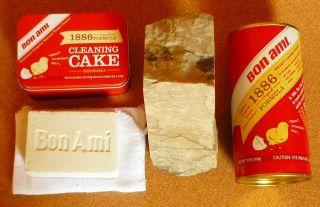 """Egy súrolószer-ritkaság: a földpátalapú """"Bon Ami"""" súrolópor és -szappan"""