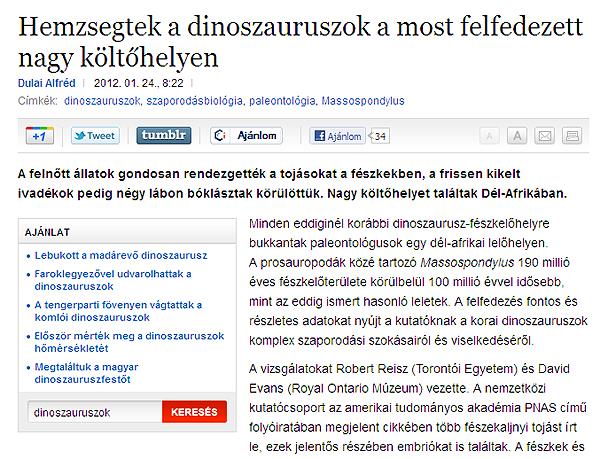Hemzsegtek a dinoszauruszok a most felfedezett nagy költőhelyen