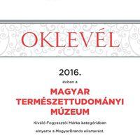 Magyar Brands díjat nyert a múzeum
