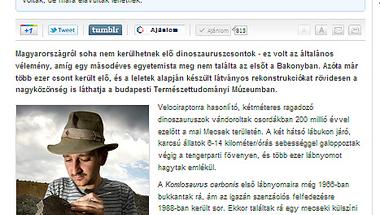 Molnár Orsolya: Itt vannak a rejtekhelyükről előásott magyar dinók