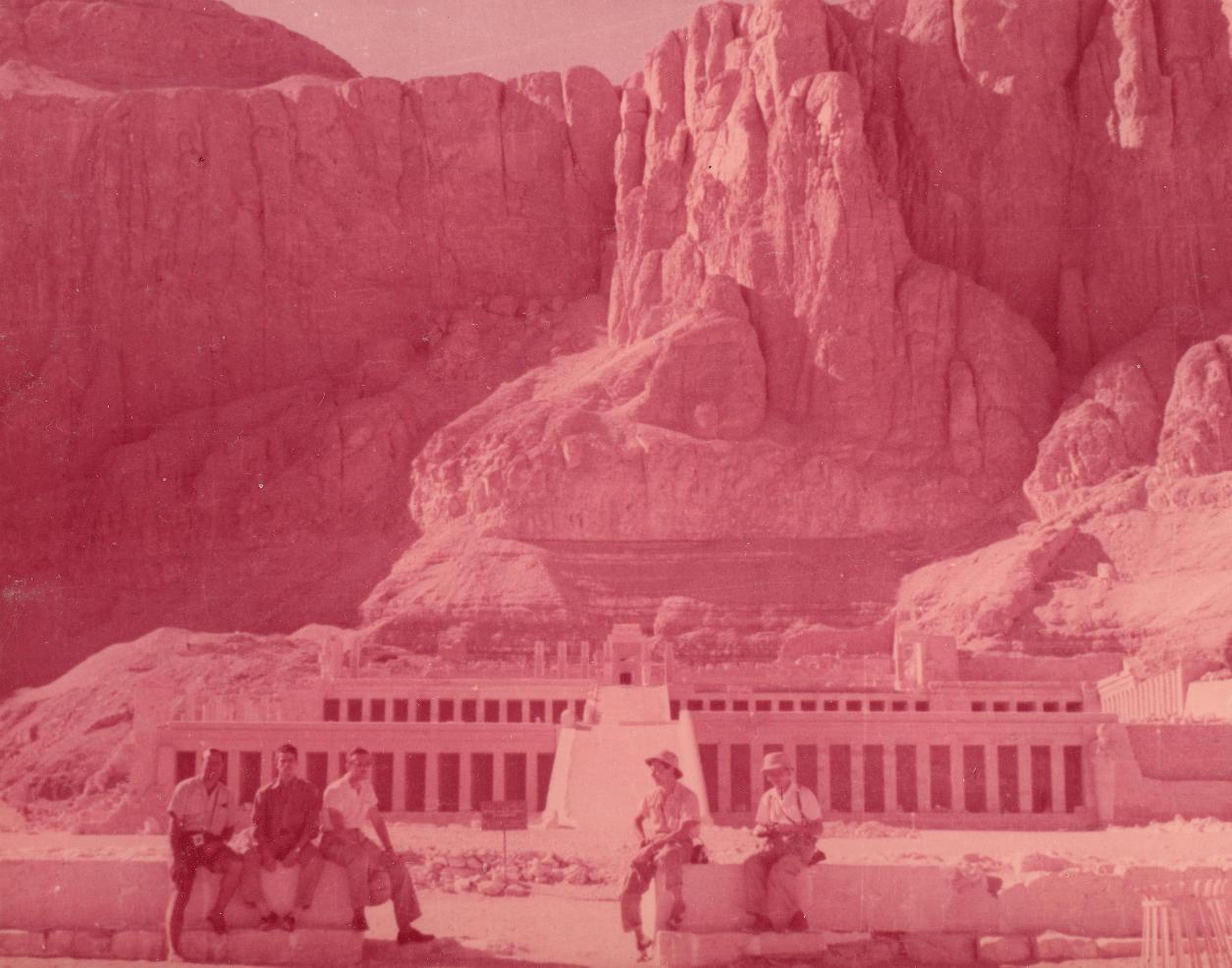 Hatsepszut templománál Thébában.