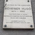 Scheiber Hugó emléktáblája