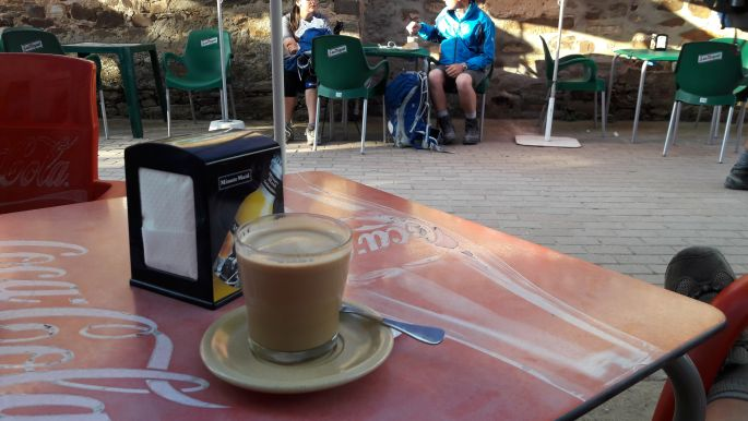 El camino, café con leche