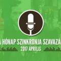 A hónap szinkronja szavazás: 2017. április