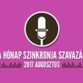 A hónap szinkronja szavazás: 2017. augusztus