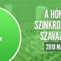 A hónap szinkronja szavazás: 2018. május