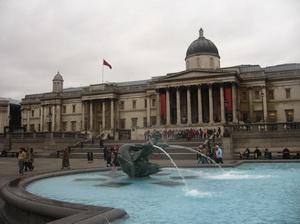 Trafalgal Square, Nelson's Column, National Gallery