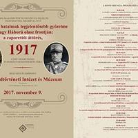 Caporetto, 1917 – tudományos konferencia