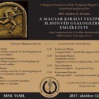A m. kir. veszprémi 31. honvéd gyalogezred emlékezete