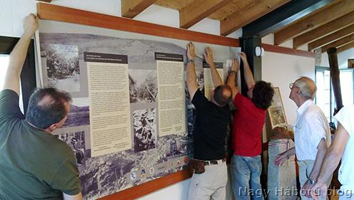 A tabló felhelyezése – olasz–magyar koprodukcióban