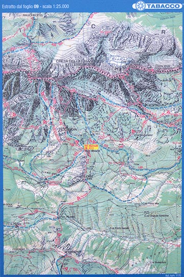 Térkép a Marinelli-háznál