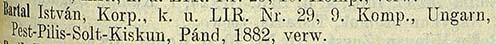 Az 1914. október 24-i 34. számú veszteséglista részlete