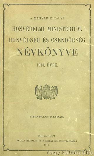 A m. kir. honvédség és csendőrség névkönyve