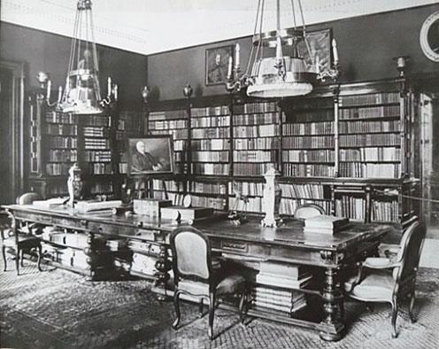 Az OSZK Apponyi-terme az 1920-as években