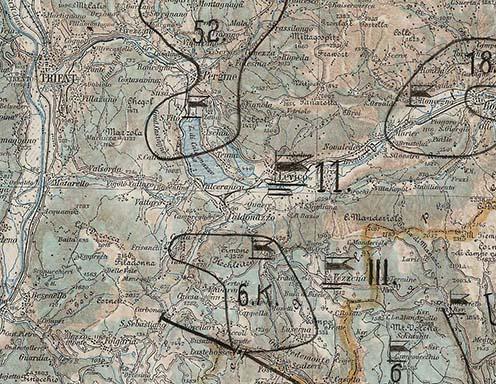Károly király szemléje - térkép