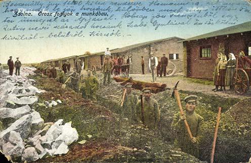 Orosz foglyok munkában Zsolnán