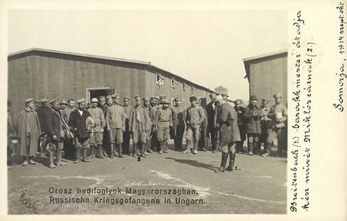 Orosz hadifoglyok a somorjai táborban
